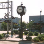 Photo of clock near the railroad in Loris, SC